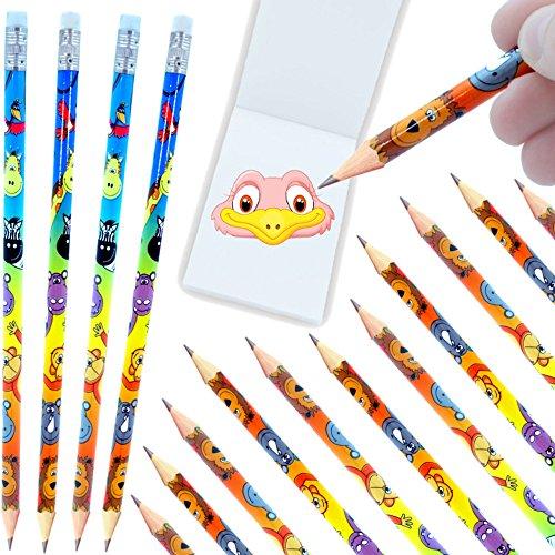 - 6 x Dschungel Tiere - Party - Bleistifte mit Radierer┃ NEU ┃ Kindergeburtstag ┃ Mitgebsel ┃ Dschungel - Party ┃ 6 Stück (Gold Vogel Käfig)