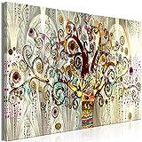 decomonkey | Mega XXXL Bilder Gustav Klimt | Wandbild Leinwand 165x110 cm Einteiliger XXL Kunstdruck zum aufhängen | Baum Abstrakt