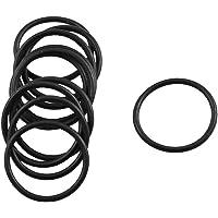 sourcingmap 10 Pcs Black Rubber Flexible O Ring Oil Seal Gaskets 17mm x 1.8mm