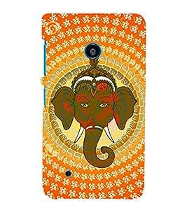 Tribal Om Ganesha 3D Hard Polycarbonate Designer Back Case Cover for Nokia Lumia 530 :: Microsoft Lumia 530