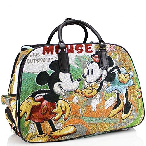 ydezire® donna borsa da viaggio bagaglio borsone Weekend vacanze borsa trolley New Mouse
