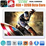 10 inch 8 core White Tablet PC Octa Cores 2560X1600 IPS RAM 4GB ROM 64GB 8.0MP WIFI 3G Dual sim card Wcdma+GSM Tablets PCS Android5.1 electronics 7 9 10