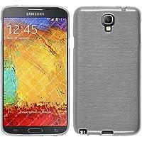 PhoneNatic Custodia Samsung Galaxy Note 3 Neo Cover bianco brushed Galaxy Note 3 Neo in silicone + pellicola protettiva