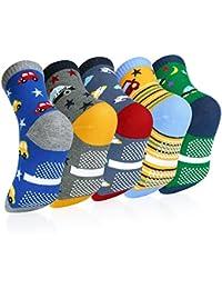 VBIGER 5 pares Niños Calcetines de Invierno Algodón Caliente Antideslizantes Calcetines 0-3 Años y 3-5 Años y 6-8 Años