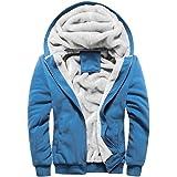 SHOBDW - Capispalla da donna casual invernale caldo Sherpa foderato con zip e cappuccio