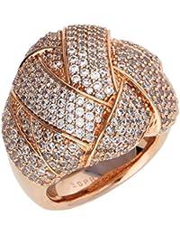 ESPRIT Damen-Ring Lilaia Messing rhodiniert Zirkonia weiß Rundschliff Gr. 50 (15.9)