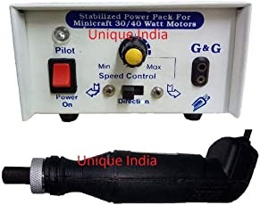Unique India Mini Electric Drill Machine/MiniCraft Machine for PCB Drilling with 12v Stabilized Power Supply Box with Speed & Direction Control