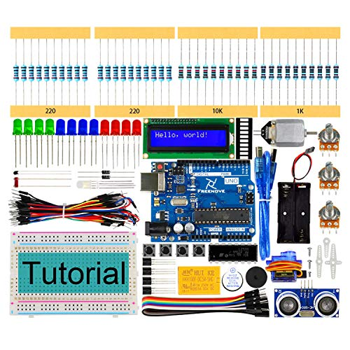 Freenove Ultrasonic Starter Kit with Uno R3 (Compatible with Arduino), 139 Pages Detailed Tutorial, 158 Items, 26 Projects, Solderless Breadboard