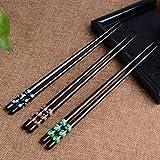 3 Paar Set Essstäbchen Japanische Natur Chopsticks aus umweltfreundlichem hölzernen in edler Schatulle Geschenkbox (3 Paar)