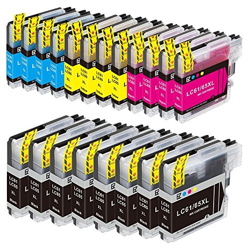 E-Z Ink (TM) Compatible Ink Cartridge Replacement for Brother LC-61 LC61 Series (8 Black, 4 Cyan, 4 Magenta, 4 Yellow) LC61BK LC61C LC61M LC61Y by E-Z Ink (Lc61-serie)
