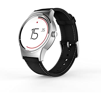 TCL Movetime Smartwatch (Silver Case, Black Strap)