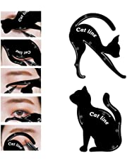 Garden Of Arts Cat Line Eyeliner Stencil, Smoky Eyeshadow Applicators Template Plate, Professional Multifunction Black Cat Shape Eye liner & Eye Shadow Guide Template (PVC Material) (1)
