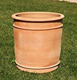 Kreta Keramik handgefertigter Terracotta Topf Pflanzgefäß, absolut frostfest, Übertopf zum Bepflanzen für den Innen- und Außenbereich, Canna (50 cm)