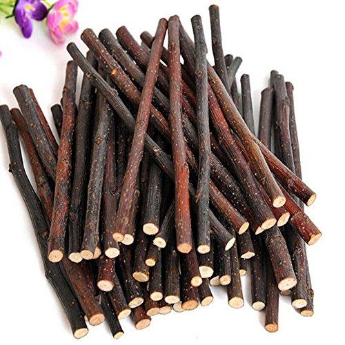 Holz-kaninchen Spielzeug (Pinkcream Zweige / Stöcke zum Kauen für kleine Haustiere, natürliches Holz, Spielzeug für Kaninchen, Hamster, Meerschweinchen)