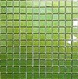 Glas Mosaik Fliesen Matte in Grün mit Glitzer MT0020
