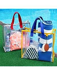 Generic Honana HN-TB55 Transparent PVC Handbag Waterproof Travel Swimming Storage Bag Beach Clothes Bags One Piece