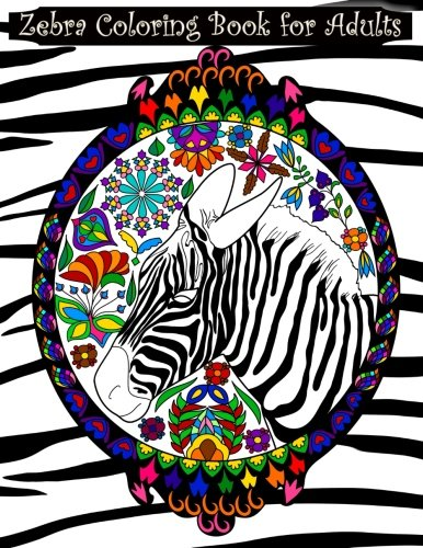 Zebra Coloring Book for Adults  Adult coloring book with zebras, extreme  detail mandalas, 853adf38ae08