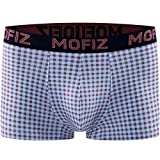 JINSHI Herren Bambus Underwear Tief Sitzende Hosenformen Weich Boxer Briefs Komfortable Passform Rot Größe L