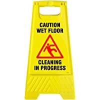 SignageShop Wet Floor Stand, Cleaning In Progress Stand (Slippery Surface A Stand 2 X 1 Ft)
