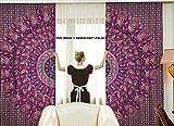 Exklusive Paisley Mandala Schlafzimmer Gardinen indischen Tuch Balkon-Set ROOM DECOR Vorhang Boho Volants Bohemian Gypsy von