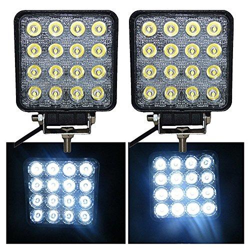 VINGO® 2X Arbeitsscheinwerfer LED 12v 48W Scheinwerfer Auto Arbeitslicht Für