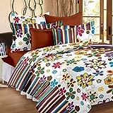 Bedspun 120 TC Cotton Double Bedsheet wi...