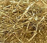 10 Grams of METALLIC GOLD Luxury Hamper Shred Gift Packaging - Extra Soft Shredded Tissue Paper