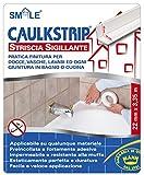 Smile P1022 Caulk Strip Striscia Sigillante, Bianco