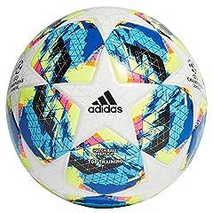 Idea Regalo - adidas Finale TTRN, Pallone da Calcio Uomo, Top:White/Bright Cyan Yellow/Shock Pink Bottom:Collegiate Royal/Black/Solar Orange, 5