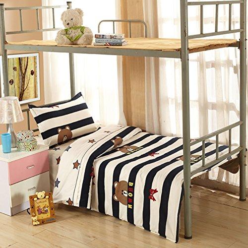 Einzel-bett-linenand decke drei sätze/1.2m bed student wohnheim bett sheet/1 meter baumwoll-schlafzimmer einzel-bett-blatt/ weiches bequemes bett-blatt-C 160x230cm(63x91inch) (1 Bett-blatt-satz)