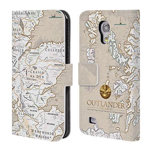 Offizielle Outlander Karte Siegel Und Ikonen Brieftasche Handyhülle aus Leder für Samsung Galaxy S4 mini I9190