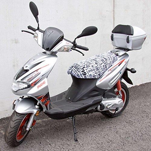 Preisvergleich Produktbild Walser 18004 Scooter Überzug Crunch Extreme für Modelle Cracker/Twister, weiß-schwarz