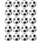 JZK 20 Palline Calcio Balilla 32 mm Stile Calcio Classico Bianco & Nero di plastica Mini Piccole Palle Ricambio per Accessori