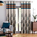 Story@Home Berry Blackout Combo Set of 2 Piece Jacquard Window Curtains for Living