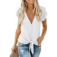 HIKARO T-Shirt Camicia Donna Magliette Camicetta con Donna Primavera Camicia per Design alla Moda Blusa Top Camicia…