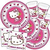 PARTY DISCOUNT Neu Party-Set-Mädchen für 16 Gäste Hello Kitty