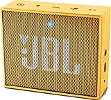 JBL Go - Altavoz portátil para smartphones, tablets y dispositivos MP3(3 W, Bluetooth, recargable, AUX, 5 horas), color amarillo
