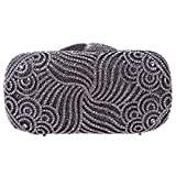 Bonjanvye Bling Rhinestone Clutch Paisley Clutch Hard Case Clutch Purse Gray