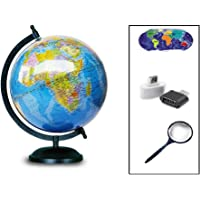 GUCHOO™ Globe Globes Educational Political Laminated 8 inch for Students/Kids/ Office Table/ Home Decor /World Globe…