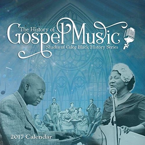 Schattierungen der Farbe 2017schwarz Geschichte der Evangelium Musik African American Kalender, 12von 30,5cm (17bh)