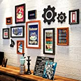 Unbekannt 10 Multi Bilderrahmen Set Industrial Style Holz Zimmer Home Wand Anhänger Retro Schlafzimmer Arbeitszimmer Wand Foto Wand @The Harvest Season (Farbe : B)