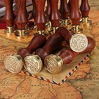 BABAN Cachet Sceau Tampon Bâtonnet Cire Wax Seal cuivre Armoire en laiton bois mariage courrier Alphabet C