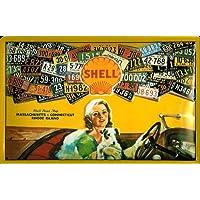 Targa in metallo Shell Oldtimer Auto Usa