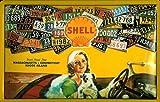 Blechschild Shell Oldtimer Auto USA Nummernschilder Schild Nostalgieschild