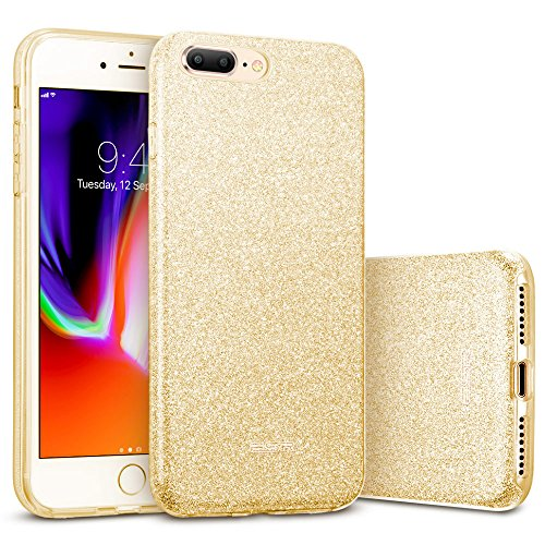 ESR Hülle kompatibel mit iPhone 8 Plus Hülle, iPhone 7 Plus, Glitzer Bling [Glänzende Mode][Ultra Dünn] Designer Schutzhülle für iPhone 8/7 Plus 5,5 Zoll-Gold