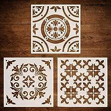 CODOHI 3 paquetes de plantillas de azulejos de pared (12 x 12 pulgadas) cortadas