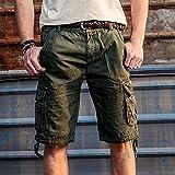GITVIENAR Herren Sommer Hose Bermudas Shorts Vintag Kurze Hose Kariert Knielang Freizeithose Mehr Hosetaschen Design Slim Fit Lässige Shorts Fuer Sommer