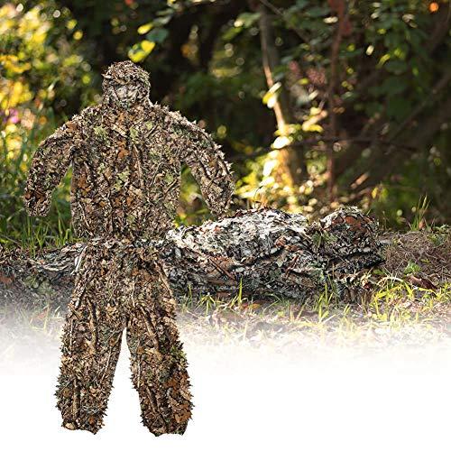 Ghillie Suits Jagd Camouflage Maple Leaf Kapuzen 3D Bionic Training Uniform Militär Sniper Mantel Camouflage Kleidung Jagd Shooting Airsoft Wildlife Photography oder Halloween