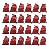 Pajoma Adventskalender Jute Beutel Rot 10x13cm Säcke zum Befüllen 24 Stück