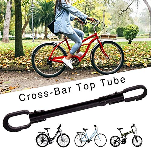 Fahrrad Rahmenadapter, Vestellbarer Bar & Frame Cross-Bar Adapter, Top Tube Adapter ,Schwarz